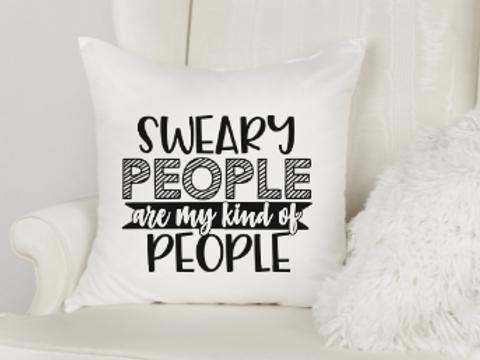 Sweary People Pillow