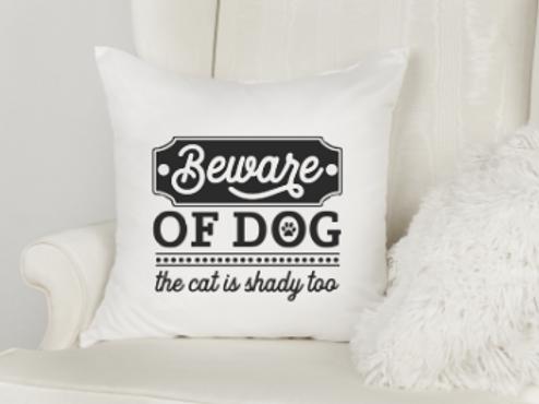 Beware of Dog Pillow