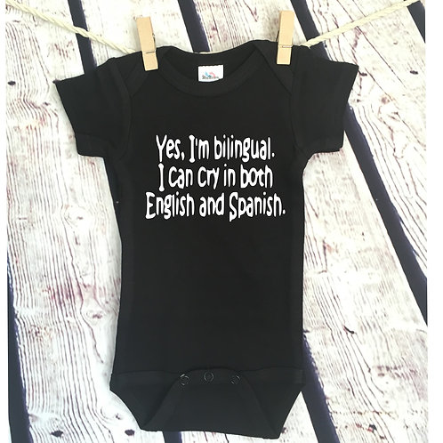 Bilingual - Cry in English and Spanish Bodysuit