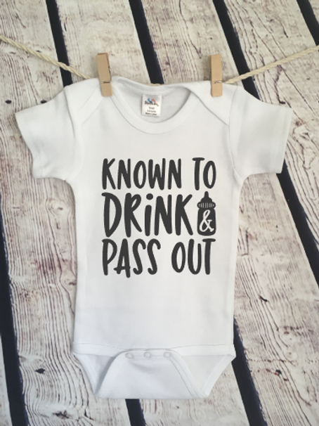 Known to drink and passout baby bodysuit and toddler shirt