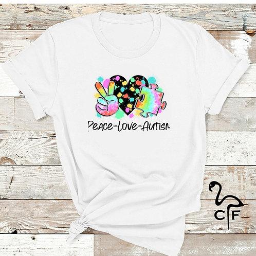 Peace Love Autism Paint Splatter
