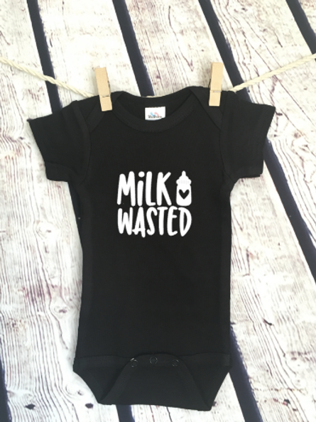 Milk Wasted baby bodysuit and toddler shirt
