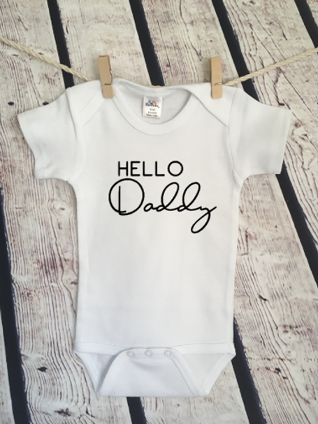 Hello Daddy Pregnancy Announcement Baby bodysuit