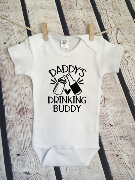 Daddy's drinking buddy baby bodysuit and toddler shirt