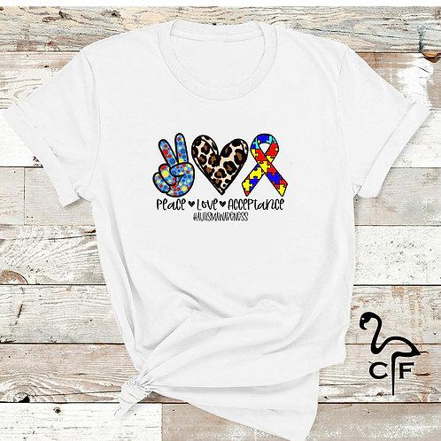 Peace Love Autism Puzzle Autism Awareness
