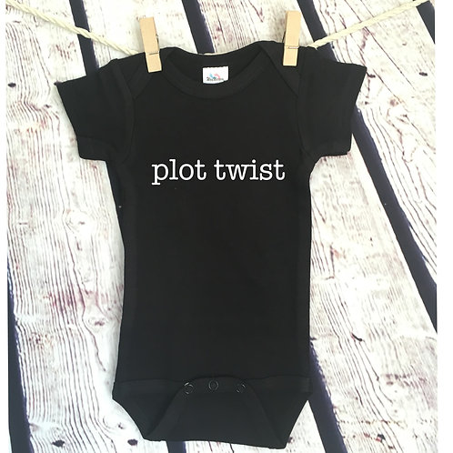 Plot Twist Pregnancy Announcement Bodysuit