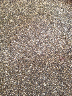white patch resin bound