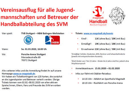 SVM Vereinsausflug - Liqui Moly Handball Bundesliga