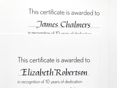 Inscribed certificates