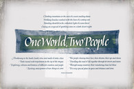 One World, Two People