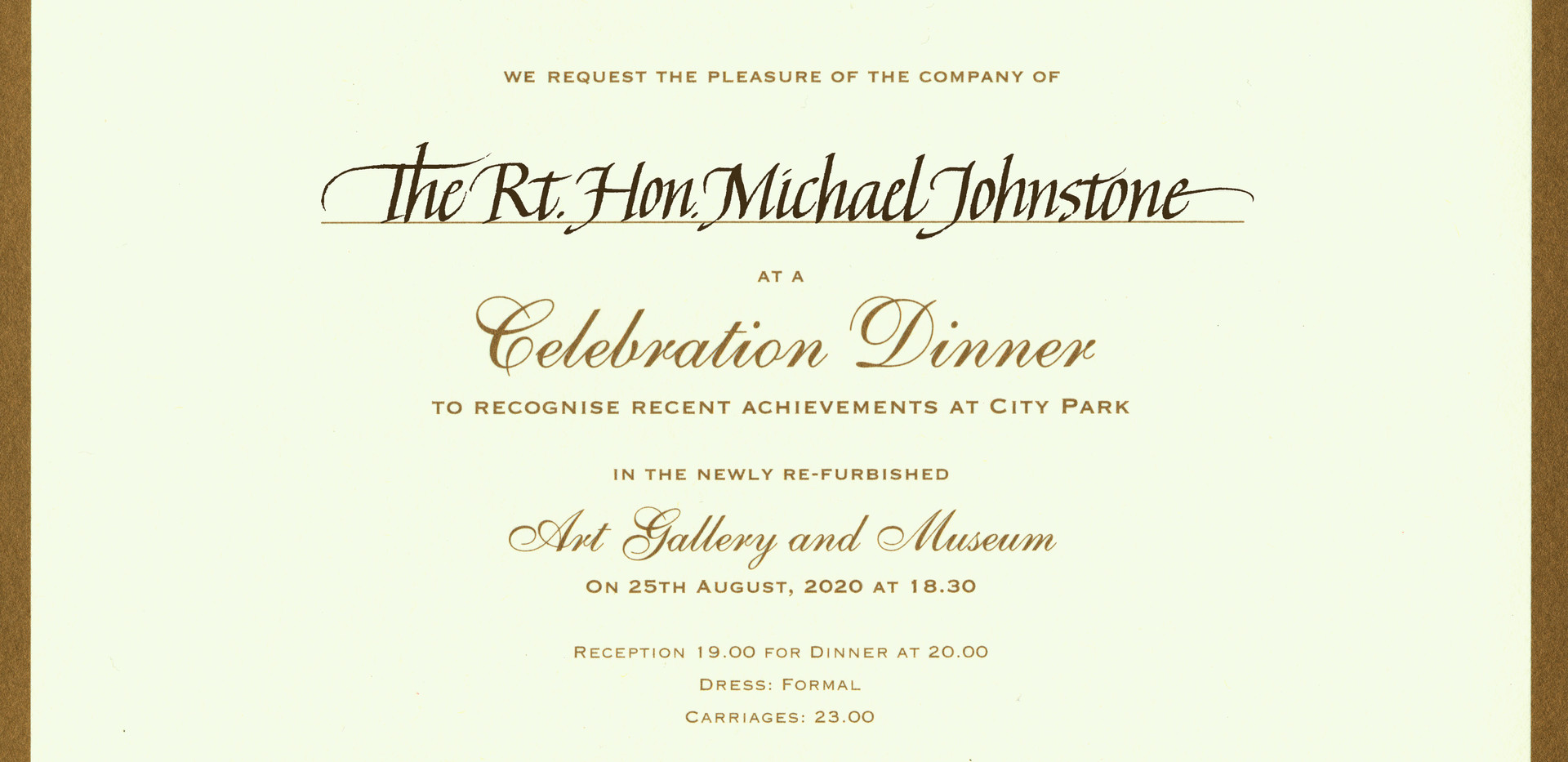 Inscribed invitation