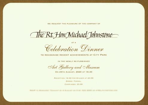 Inscribed invitation