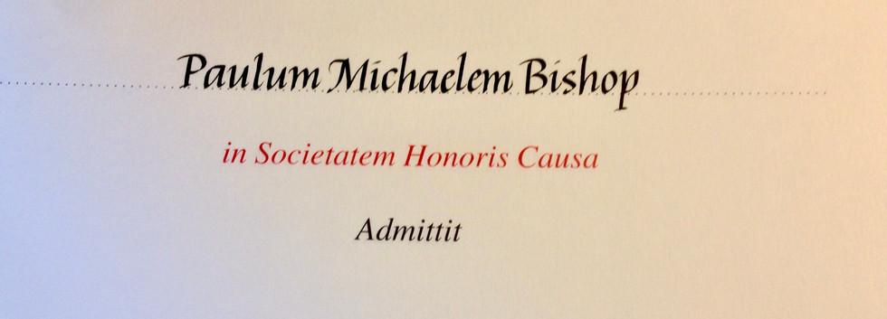 Inscribed certificate