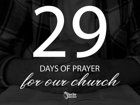29 Days of Prayer and Personal Revival