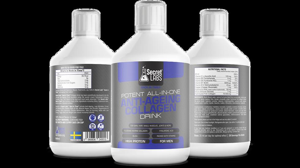 3 X 500ML Magic Potion® Liquid Marine Collagen Drink for Men 60 Days Supply