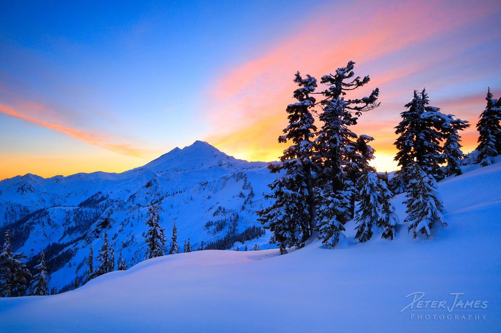Snowy Blanket Covering Mount Baker