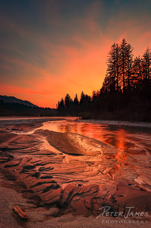 Sand Art River Sunset