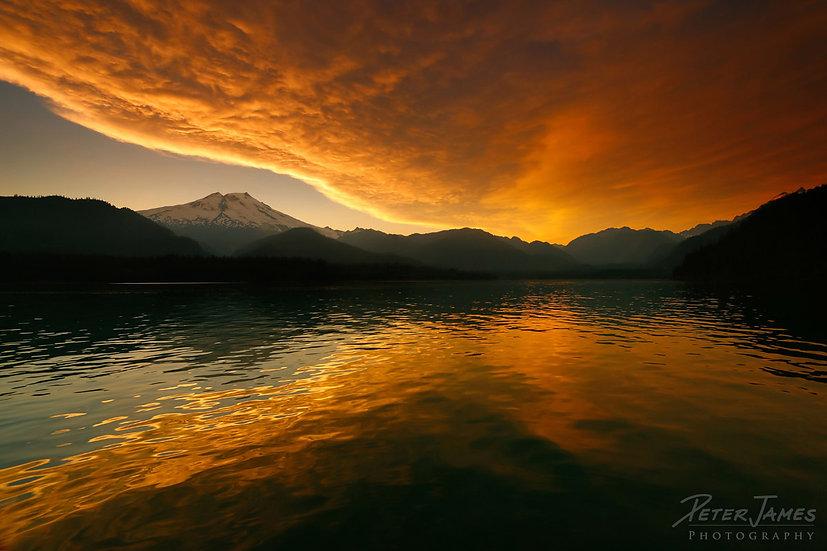 Baker Lake Aglow at Sunset