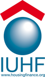 This is the logo of the International Union for Housing Finance (IUHF).