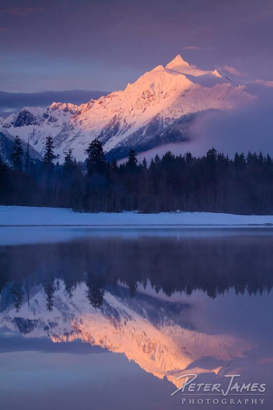 Winter Reflections of Mount Shuksan