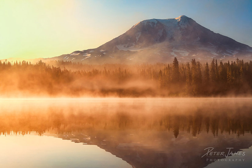 Morning Mist On Mount Adams