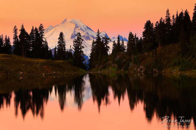 Dawn at Mount Baker