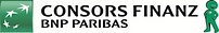 This is the logo of Consors Finanz, a brand of the international BNP Paribas Group and one of the leading consumer finance providers in Germany.