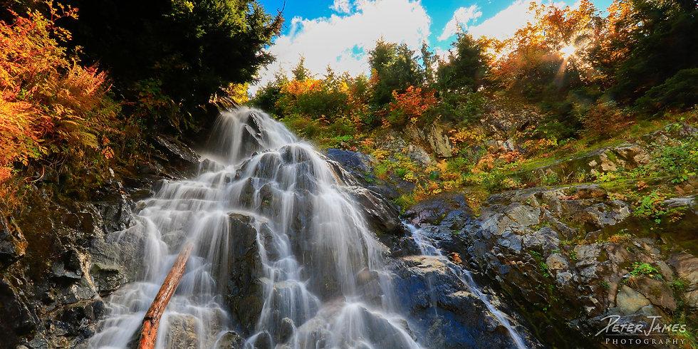 Cascading Waterfall Near Cascade Pass