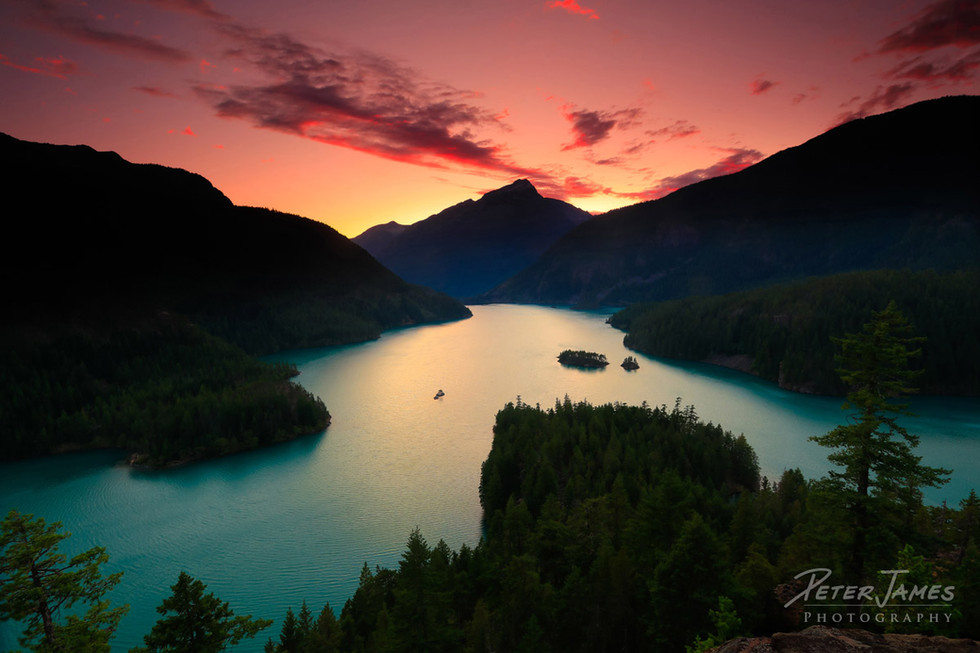 Dramatic Diablo Lake Sunset
