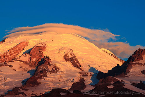 Dawn's First Light on Mount Rainier