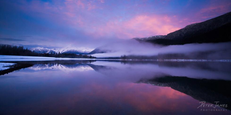 Twilight Clouds on Baker Lake