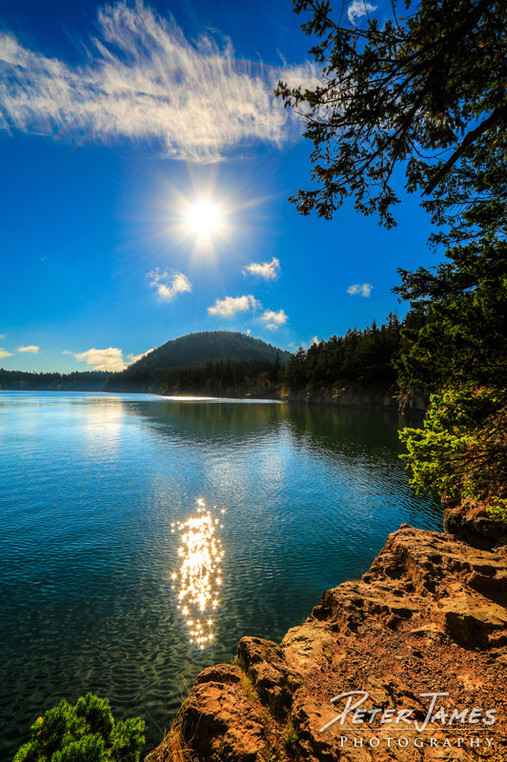 Dazzling Sun On Cascade Lake