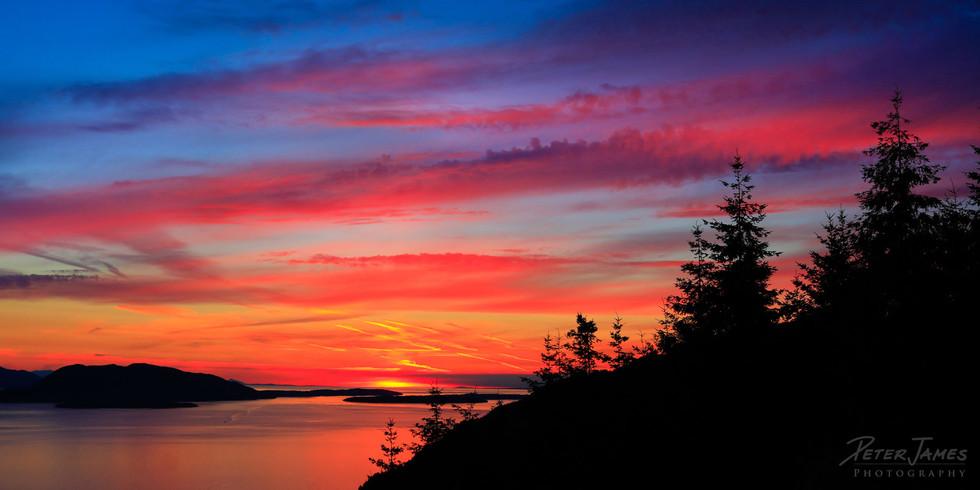 Rich Island Color At Sundown