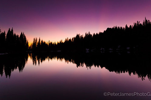 Twilight Reflections on Skyline Lake
