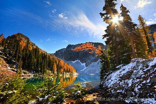 Blue Lake Golden Larches