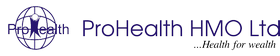 This is the logo of ProHealth, the leading HMO in Nigeria.