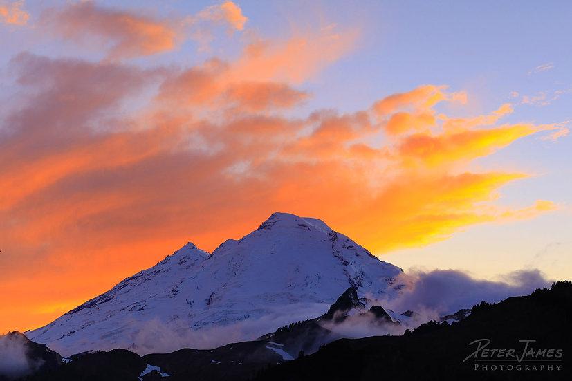 Mount Baker Glacier Sunset
