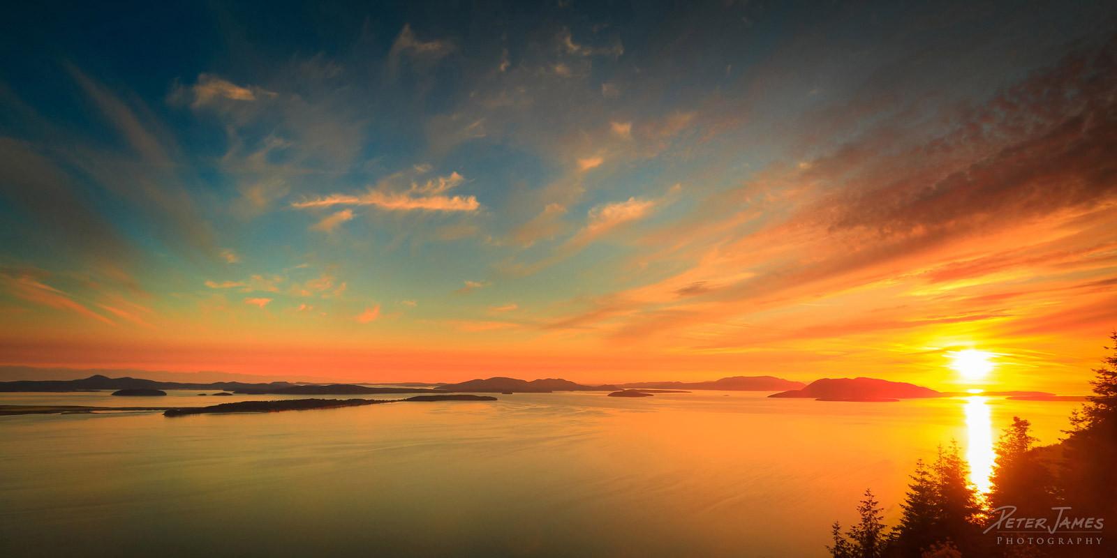Island Sunset At Samish Overlook