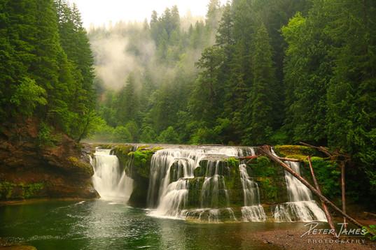 Mist Over South Cascades Falls