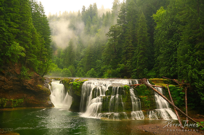 Mist Over South Cascades Falls