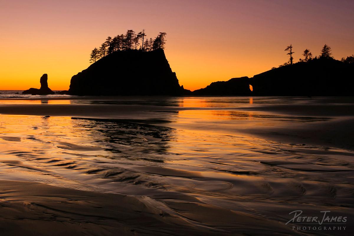 Olympic Second Beach Sunset