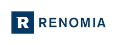 This is the logo of RENOMIA, an insurance brokerage company that provides risk management, flexible claims settlement, and insurance services for companies and their employees.
