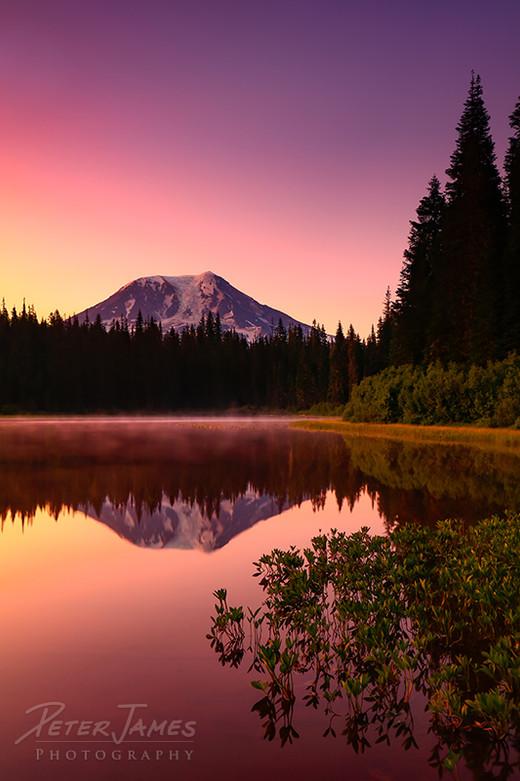 Olallie Lake Mount Adams Sunrise