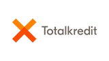This is the logo of Totalkredit, a company providing residential mortgage loans and offering its products through Danish local and national banks.