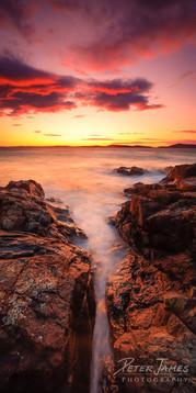 Silky Sunset at Fidalgo Head