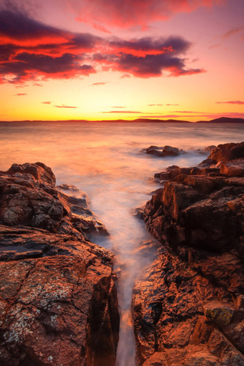 Silky Sunset at Fidalgo Head