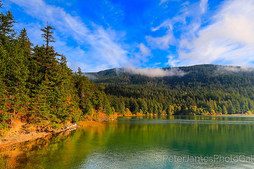 Mount Constitution Over Cascade Lake