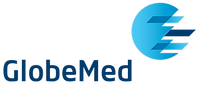 This is the logo of GlobeMed Group, the largest healthcare benefits management company in the Middle East.