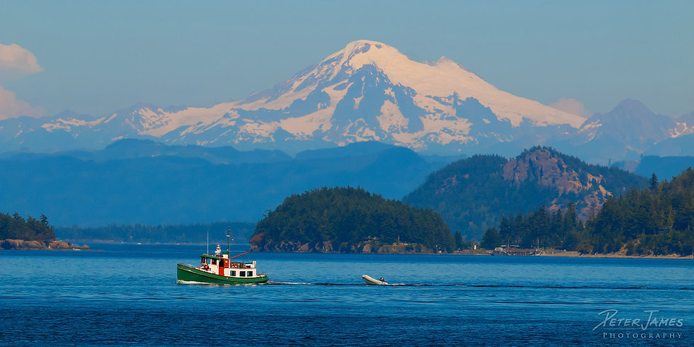 Tugboat Mount Baker photography wall art for sale