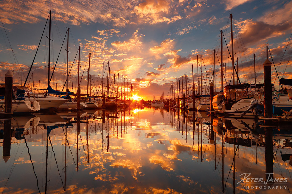 Sailboats Floating in Heavenly Sky